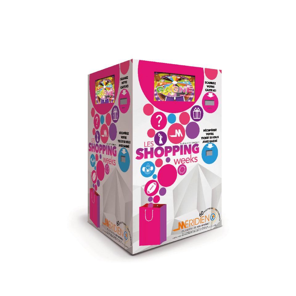 location-bornes-de-jeu-interactives-3-joueurs-animation-commerciale-galerie marchande-LECLERC MERIDIEN-decors-personnalisés-anniversaire magasin- la-borne-magique