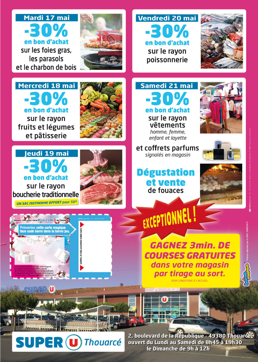 Flyer A3-verso-Super U Thouarcé-anniversaire magasin